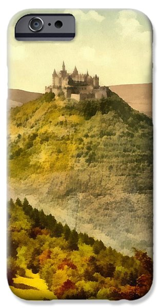 The Hills Mixed Media iPhone Cases - Hohenzollern Germany Castle iPhone Case by Dan Sproul
