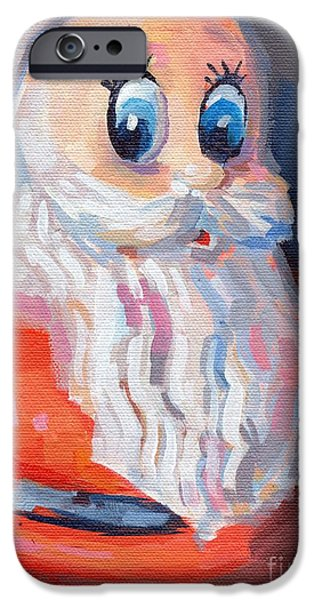 Santa iPhone Cases - HoHoHo iPhone Case by Kimberly Santini