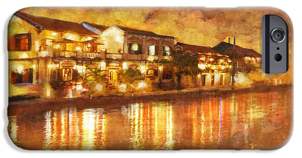 Historic Site Paintings iPhone Cases - Hoi an ancient town iPhone Case by Ctaf