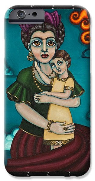 Diego Rivera iPhone Cases - Holding Diegito iPhone Case by Victoria De Almeida