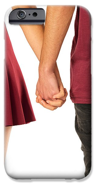 Relationship iPhone Cases - Holding Hands iPhone Case by Carlos Caetano