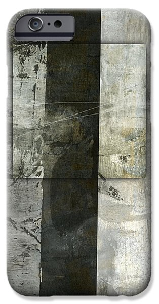 Monochromatic Digital Art iPhone Cases - Holding It In iPhone Case by Carol Leigh