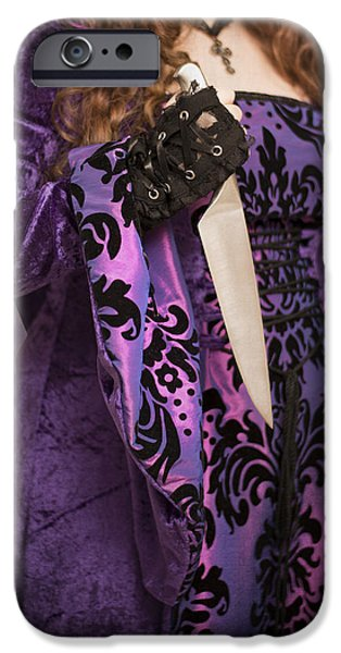 Gothic iPhone Cases - Holding Knife iPhone Case by Amanda And Christopher Elwell