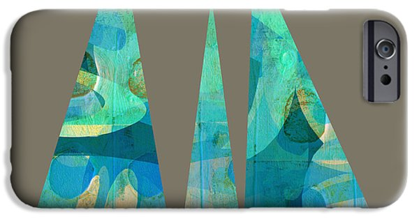 Annpowellart iPhone Cases - Holding Up  The Sky iPhone Case by Ann Powell