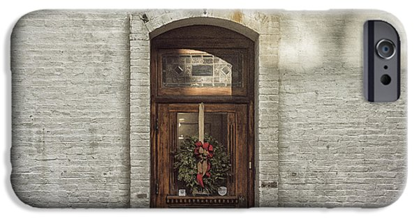 Franklin iPhone Cases - Holiday Door iPhone Case by Terry Rowe