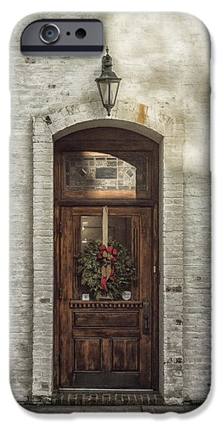 Holiday Door iPhone Case by Terry Rowe