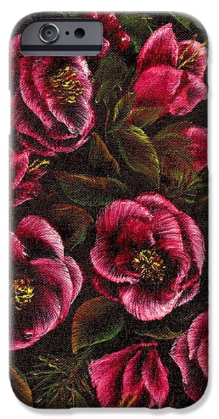 Window Of Life iPhone Cases - Holiday Flowers iPhone Case by Ronald Chambers