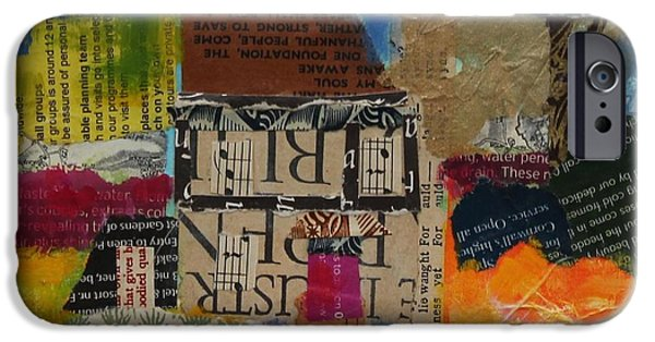 Lanscape iPhone Cases - Holiday Home 2013, Acrylicpaper Collage iPhone Case by Sylvia Paul