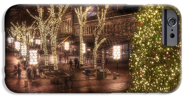 Tea Party iPhone Cases - Holiday in Quincy Market iPhone Case by Joann Vitali