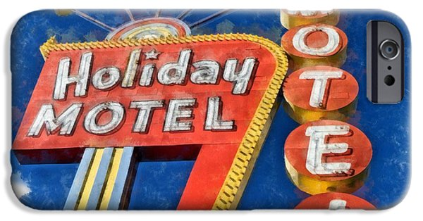 Neon iPhone Cases - Holiday Motel Classic Neon  iPhone Case by Edward Fielding
