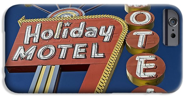 Vegas iPhone Cases - Holiday Motel Las Vegas iPhone Case by Edward Fielding