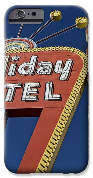 Holiday Motel Las Vegas iPhone Case by Edward Fielding