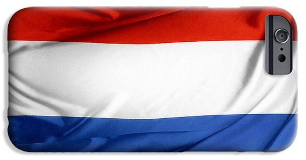 Flag iPhone Cases - Holland flag iPhone Case by Les Cunliffe