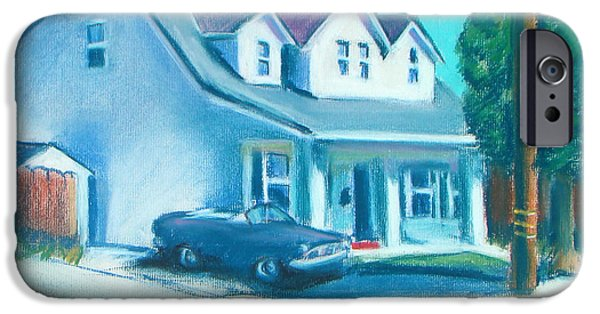 House Art Pastels iPhone Cases - Hollister Home iPhone Case by Michael Foltz