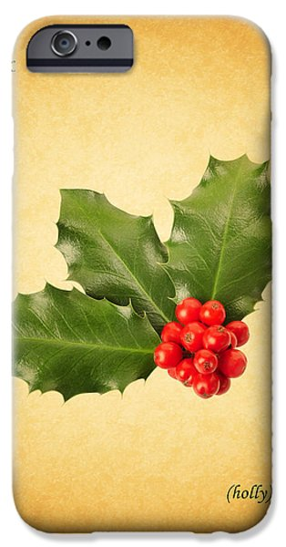 Berry iPhone Cases - Holly iPhone Case by Mark Rogan