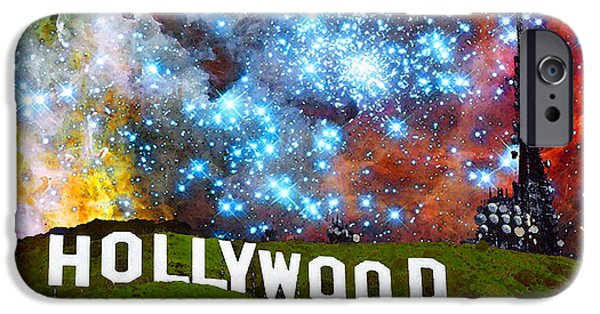 Big Screen iPhone Cases - Hollywood 2 - Home Of The Stars By Sharon Cummings iPhone Case by Sharon Cummings
