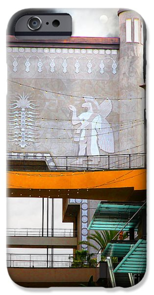 Babylon iPhone Cases - Hollywood and Highland Center Babylon Court 5D29087 iPhone Case by Wingsdomain Art and Photography