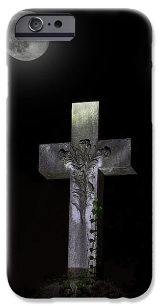 Final Resting Place Photographs iPhone Cases - Hollywood Cemetery Full Moon iPhone Case by Jemmy Archer