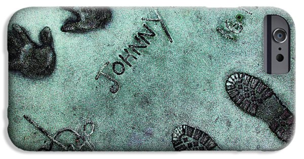 Dep iPhone Cases - Hollywood Chinese Theatre Johnny Depp 5D29012 iPhone Case by Wingsdomain Art and Photography