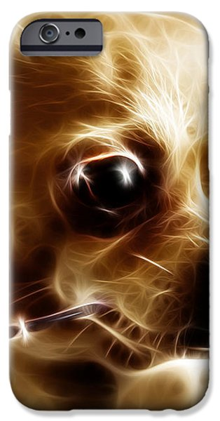 Hollywood Fifi Chika Chihuahua - Electric Art iPhone Case by Wingsdomain Art and Photography