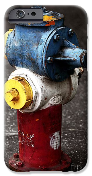 Fire Hydrant iPhone Cases - Hollywood Hydrant iPhone Case by John Rizzuto