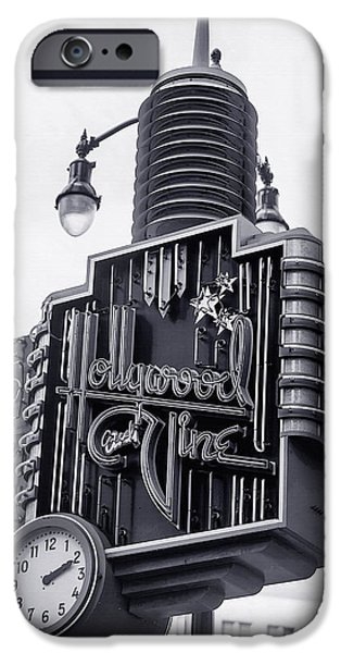 Advertise iPhone Cases - Hollywood Landmarks - Hollywood and Vine Sign iPhone Case by Art Block Collections