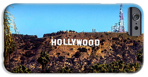 Rich iPhone Cases - Hollywood Sign iPhone Case by Az Jackson