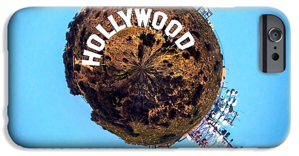 Shape iPhone Cases - Hollywood sign Circagraph iPhone Case by Az Jackson