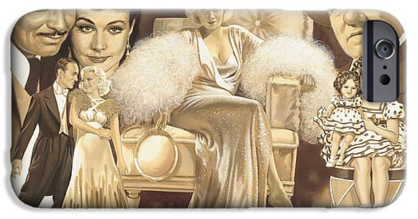 Temple Paintings iPhone Cases - Hollywoods Golden Era iPhone Case by Dick Bobnick