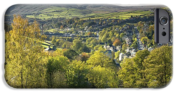 Painter Photographs iPhone Cases - Holmfirth and The Holme Valley iPhone Case by John Potter