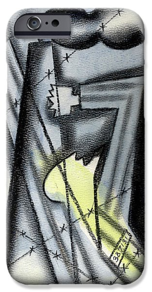 Prison Paintings iPhone Cases - Holocaoust iPhone Case by Leon Zernitsky