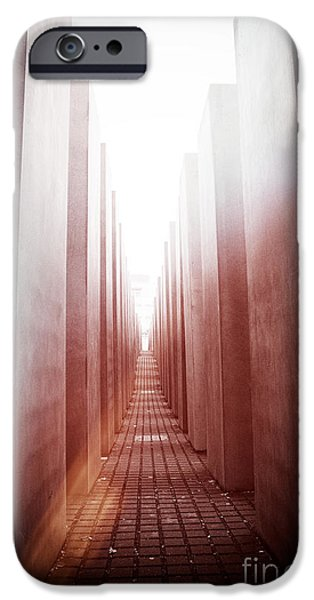 Process iPhone Cases - Holocaust Memorial Berlin iPhone Case by Jane Rix
