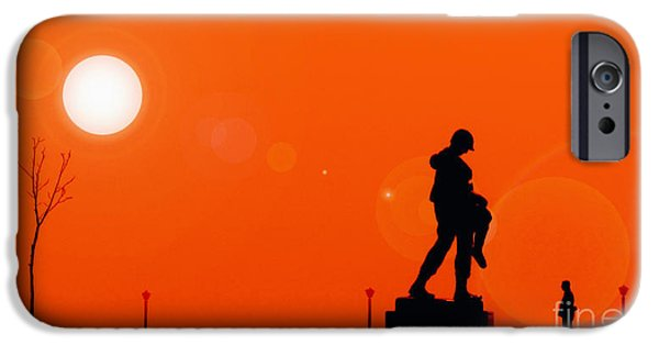 Wwi iPhone Cases - Holocaust Memorial - Sunset iPhone Case by Nishanth Gopinathan