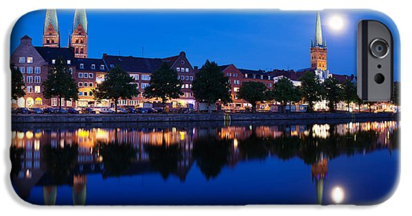 Marys iPhone Cases - Holstenhafen On The River Untertrave iPhone Case by Panoramic Images