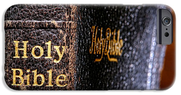 Holy iPhone Cases - Holy Bible iPhone Case by Olivier Le Queinec