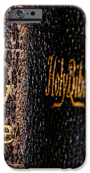 Holy Bible iPhone Case by Olivier Le Queinec