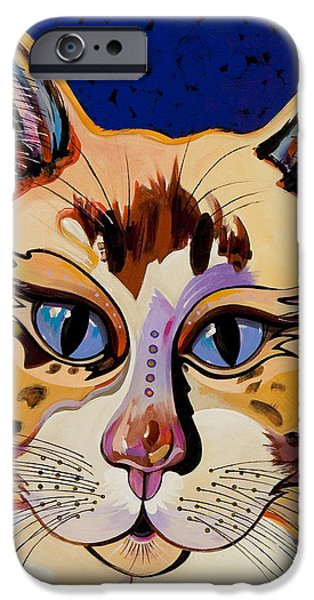 Imaginary Art iPhone Cases - Holy Cat iPhone Case by Bob Coonts