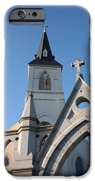 Santa Cruz Art iPhone Cases - Holy Cross Church iPhone Case by Art Block Collections