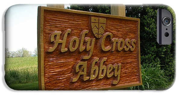 Signed Sculptures iPhone Cases - Holy Cross Sign iPhone Case by Daniel P Cronin