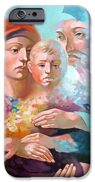 Holy Family iPhone Case by Filip Mihail