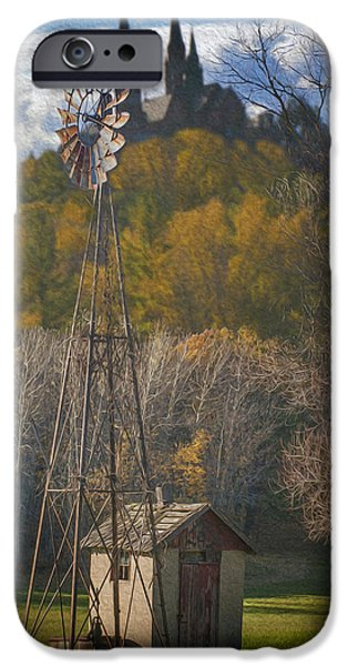 Log Cabin Digital iPhone Cases - Holy Hill  Wisconsin iPhone Case by Jack Zulli
