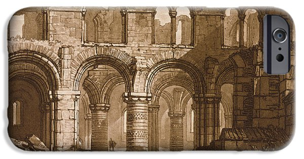 Pen And Ink iPhone Cases - Holy Island Cathedral iPhone Case by Joseph Mallord William Turner