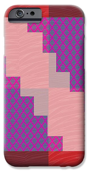 Politician iPhone Cases - Holy Purple Diamond Pattern and Silken Light Crystal across iPhone Case by Navin Joshi