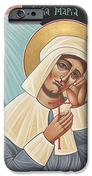 Quaker Paintings iPhone Cases - Holy Quaker Martyr Mary Dyer iPhone Case by William Hart McNichols