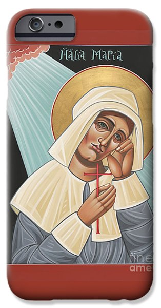 Quaker Paintings iPhone Cases - Holy Quaker Martyr Mary Dyer 157 iPhone Case by William Hart McNichols