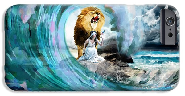 Storm Mixed Media iPhone Cases - Holy Roar iPhone Case by Dolores Develde