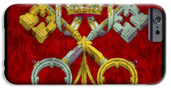 Symbology iPhone Cases - Holy See Flag iPhone Case by World Art Prints And Designs