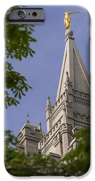 Angel Moroni iPhone Cases - Holy Temple iPhone Case by Chad Dutson