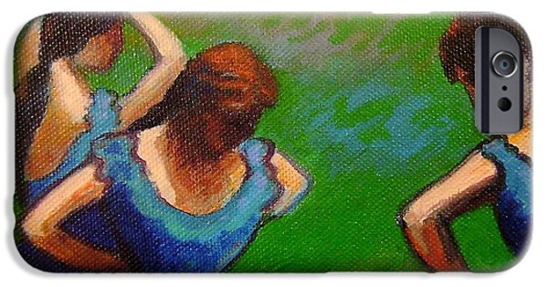 Tutus Paintings iPhone Cases - Homage to Degas II iPhone Case by John  Nolan
