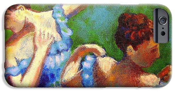 Tutus Paintings iPhone Cases - Homage to Degas iPhone Case by John  Nolan